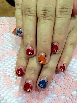 ネイルサロン アンジュ(Nail Salon Ange)/マリメッコ風ネイル♪