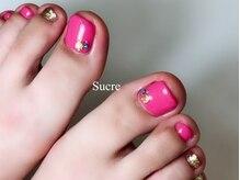 シュクル(Sucre)/ピンク☆フットネイル
