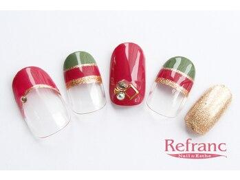 ルフラン 武蔵境店(Refranc)/大人クリスマスハンドネイル