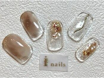 アイネイルズ 梅田店(I nails)/メタリックニュアンス