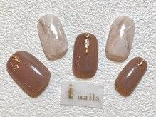 アイネイルズ 梅田店(I nails)/大理石風シンプルネイル