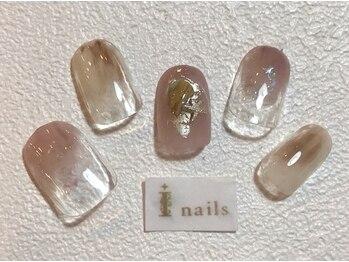 アイネイルズ 梅田店(I nails)/くすみカラーニュアンス