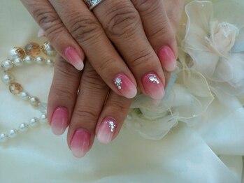 ウィズ フェリーク/ピンク×ホワイトグラデ