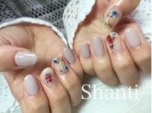 シャンティ ネイルサロン(Shanti nail salon)/春ネイルで押し花ネイル♪