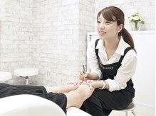 キャンアイドレッシー 松山大街道店(Can I Dressy)の雰囲気(ゆったりシート席で、季節に合わせた可愛いフットネイル☆)
