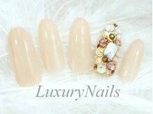 ラグジュアリーネイルズ カワグチ(Luxury Nails Kawaguchi)/平日限定敷き詰めビジュー¥6500