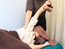 【美容整体】で体の歪みを改善します!!肩や腰のつらさに◎