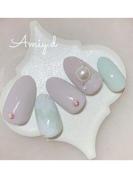 アミーディ ネイル(Amiy.d Nail)/【定額】8800円☆春フラワー