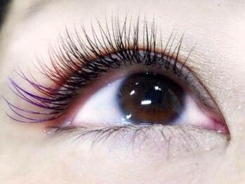 アイラッシュサロン リュネット(Eyelash salon Lunette)の写真/OLさんに大人気ブラウン系カラーエクステ。各コース+¥1100でカラーエクステに☆カラーも豊富にご用意♪