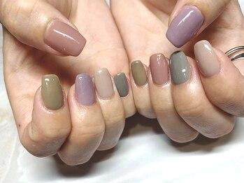 フリーズネイル(FREE'S nail)の写真/お仕事帰りにも通いやすい!アートができなくても、カラーにこだわりたい方◎初回¥5500~