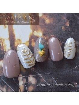 アウリン(AURYN)/8月限定monthly design No,2