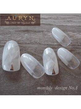 アウリン(AURYN)/8月限定monthly design No,3