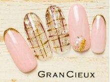 グランシュクアトロ 千葉店(GranCieux × QUATRO)/冬のガーリーチェックネイル