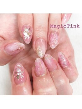 ネイルサロン マジックティンク(Magic Tink)/クリアなキラキラ♪オーロラ感
