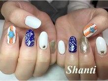 シャンティ ネイルサロン(Shanti nail salon)/レトロなペイズリー柄☆