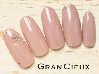 グランシュクアトロ 千葉店(GranCieux × QUATRO)/上品ピンク×雪の結晶ワンカラー