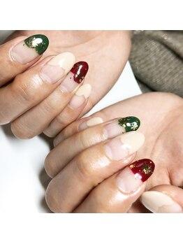 ネイルサロン ベイビーズ(Nail Salon Beybe's)/・*クリスマスフレンチ*・
