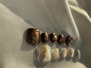アンジェリカミッシェル 川崎店の写真/いつでも可愛いフットネイルは女子力の鍵♪大人気フットネイルでシンプル~デザインアートも楽しめる!
