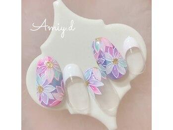 アミーディ ネイル(Amiy.d Nail)/【定額】9800円☆フラワー