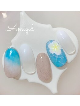 アミーディ ネイル(Amiy.d Nail)/【定額】8800円☆プルメリア