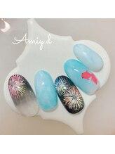 アミーディ ネイル(Amiy.d Nail)/【定額】8800円☆金魚と花火
