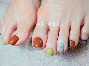 ネイルズ アメリ(Nails amelie)の写真/綺麗で可愛いフットネイルで女子力UP♪大人可愛いにこだわったデザインでネイル上級者も納得の仕上がりに☆
