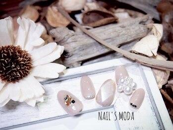 ネイルズ モダ(NAIL'S MODA)/3月の新作デザイン/宝石ネイル