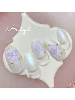アミーディ ネイル(Amiy.d Nail)/【定額】8800円☆あじさい