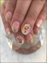 サロン アンジェラ(Salon Angela)/押し花埋め込み
