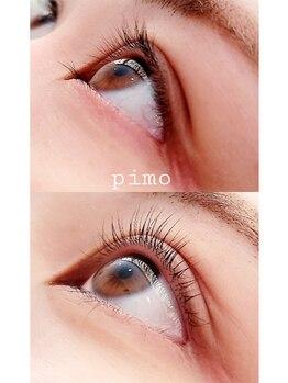 ピモ(Pimo)の写真/【次世代まつ毛パーマ】導入!ケラチンやコラーゲンが配合されており、自まつ毛への負担を最小限に!