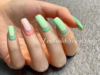レイ ネイルアンドセレクトショップ(Lei Nail&Selectshop)/《グリーン×ネオン》
