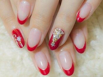 ネイルサロンアンドスクール グーフィー(nail salon&school goofy)/クリスマスネイル6600円