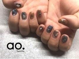85min blue × ミラーネイル