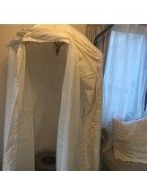 睡眠改善専門 サロン 萃(Sui)/ハーブテントの中でよもぎ蒸し