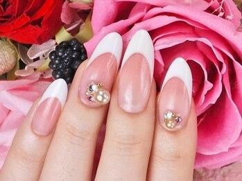 ベルネイル(belle nail)/爪長フレンチスカルプ