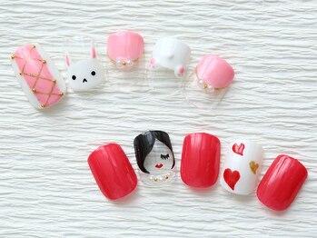 ネイルサロン マハロ 横浜四季の森フォレオ店(Nail Salon Mahalo)の写真/デザインサンプル多数☆持ち込みデザインや追加アートもOK!毎日見る爪だからこそお気に入りに♪