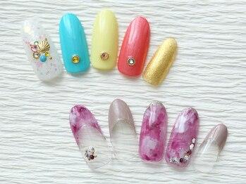 ネイルサロン マハロ 横浜四季の森フォレオ店(Nail Salon Mahalo)の写真/【定額プチプラコース¥4,200~】【デザインコース¥5,300~】など、ご予算に合わせてセレクト♪