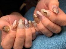 ネイルズ ラ ブリーサ(nails La Brisa)/ミラー×クリア×シェル