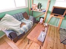 お洒落な家具が目を惹く待合スペース。