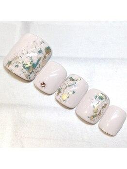 ライト ネイルズ ニシノミヤ(light nails NISHINOMIYA)/フットネイル☆¥7700