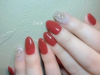 ルチア(Lucia)/ミラーアイシングネイル
