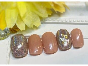 ネイルアンドアイラッシュ ブレス エスパル山形本店(BLESS)/オーロラミラーアートネイル