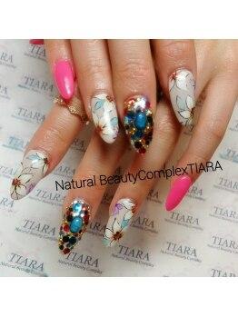 ナチュラルビューティーコンプレックス ティアラ(Natural Beauty complex TIARA)/flower jewelry nail