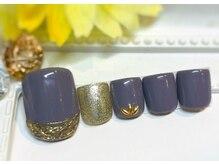 ネイルアンドアイラッシュ ブレス エスパル山形本店(BLESS)/スモーキーミラーネイル