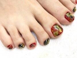 FOOT赤黒×和柄ホイル