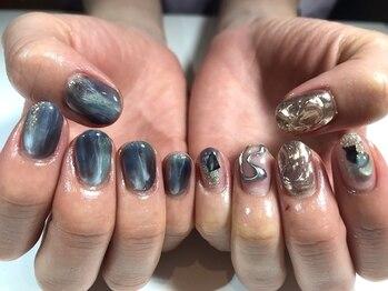 パルネイル(PAL nail)/青ニュアンスネイル