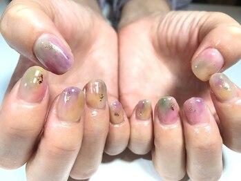 パルネイル(PAL nail)/くすみカラフルネイル