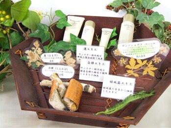 サレーヌ フェイシャルサロン 本山店/和漢植物配合の化粧品