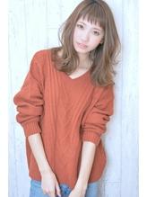 Saphir☆ハネ感とろみハニーヘア斜めバング パーマ.50