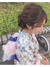 浴衣 着物 パーティー 成人式 卒業式 ヘアアレンジ.1